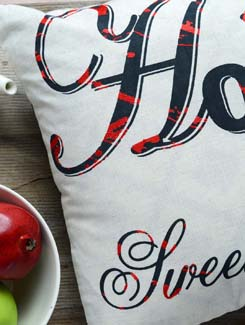 Home Sweet Home Cushion Cover In 100 % Cotton - AMOROSA