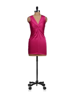 Cinched Fuschia Pink Party Dress - SPECIES