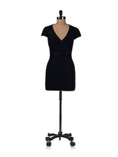 Black Sequins Tunic Top - SPECIES