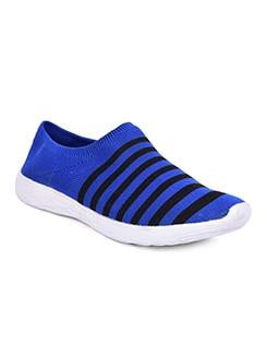 blue slip on sport shoe