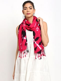 red rayon scarf