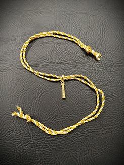 white gold plated thread rakhi