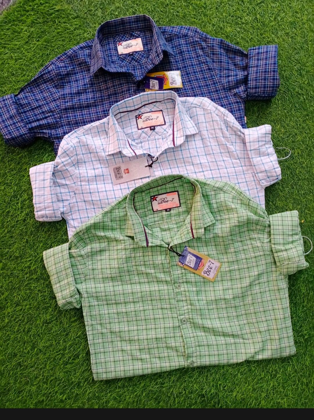 men's shirts green white blue