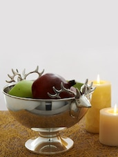 Silver Bowl With Reindeer Handles - AG