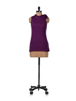 Wine Long Balloon Top - GRITSTONES