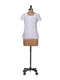 Sheer White Top - STYLE QUOTIENT BY NOI