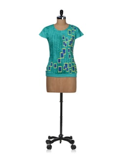 Casual Graphic Print Top - STYLE QUOTIENT BY NOI