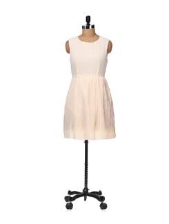 Pleat Style Dress-pale Pink - Besiva