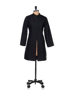 Trendy Black Quilted Jacket - Vedanta