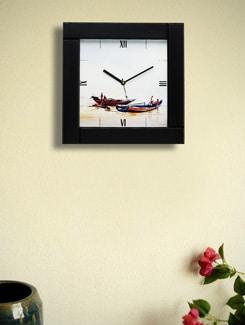 "Art Print Wall Clock - ""Boats II"" By Samiran Sarkar - Artfairie"