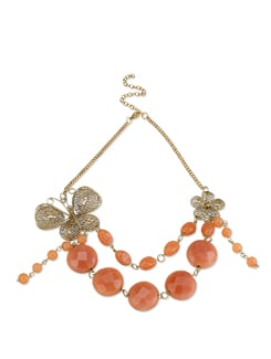 Chunky Butterfly Necklace With Beads - Accessory Bug