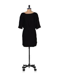 Black Back Keyhole Dress - Femella