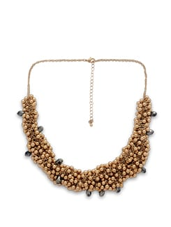 Gold Ball Cluster Necklace - THE PARI