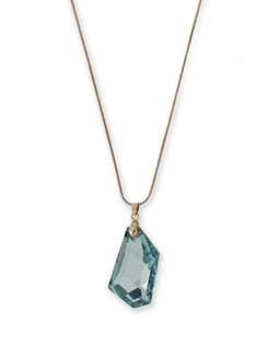 Blue Crystal Locket Necklace - THE PARI