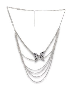 Multi Chain Butterfly Necklace - THE PARI