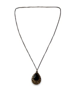 Antique Black Bead Necklace - THE PARI