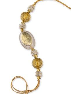 Gold Pearl And Resham Rakhi - Cultural Concepts
