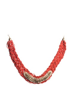 Red Bib Necklace - Accessory Bug