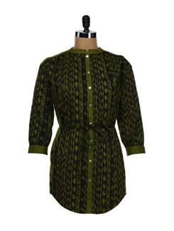 Cactus Green Asymmetric Shirt - NUN