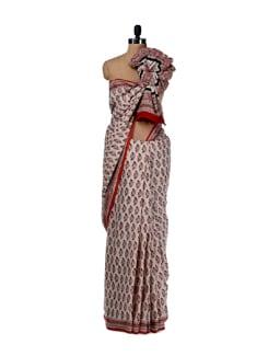 Intricate Prints- Cotton Saree - Nanni Creations