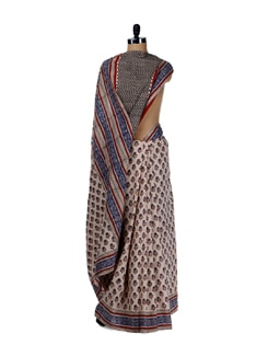 Ethnic Prints- Cotton Saree - Nanni Creations
