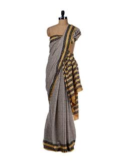 Earthy Prints- Cotton Saree - Nanni Creations