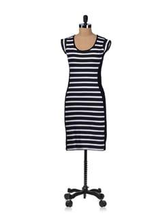 Sassy Striped Bodycon Dress - Miss Chase