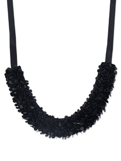 Black Sequined Necklace - Miss Chase