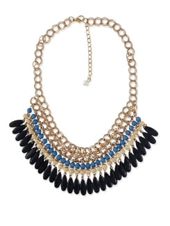 Multicoloured Beaded Drop Necklace - Miss Chase