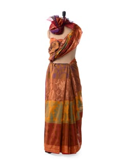 Mustard Organza Cotton Silk Saree - Bunkar