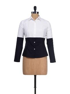 Classic Black & White Cotton Shirt - I KNOW By Timsy & Siddhartha