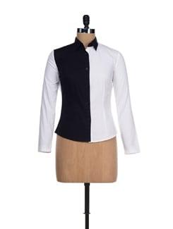 Casual Black & White Shirt - I KNOW By Timsy & Siddhartha