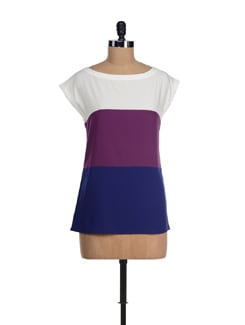 Trendy Tricolour Crepe Top - I KNOW By Timsy & Siddhartha