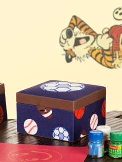 Fabric Trinket Box - TREASURE  HUNT