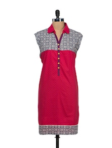 Elegant Sleeveless Kurti - VINTAGE EARTH