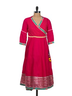 Gorgeous Fuchsia Anarkali - VINTAGE EARTH