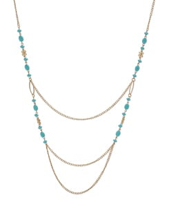 Blue & Gold Multichain Necklace - Addons