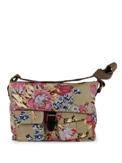 Multicoloured Rose Print Messenger Bag - SUNNY ACCESSORY