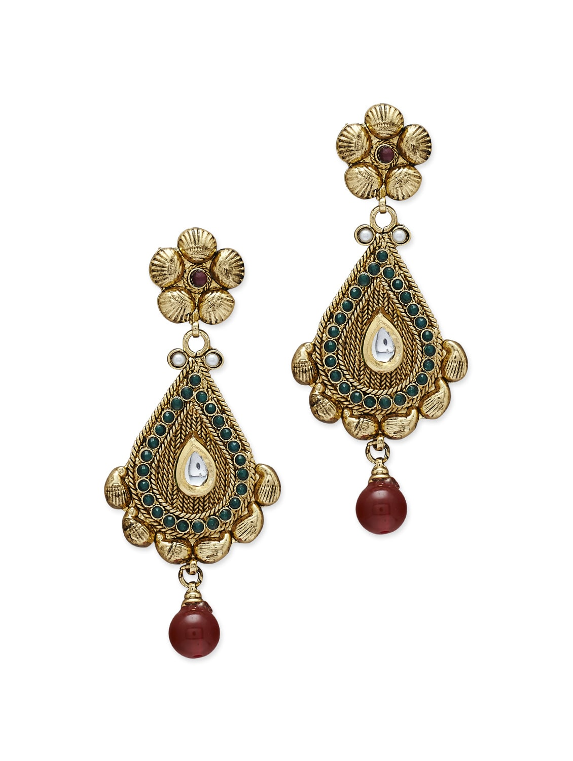 Buy Chunky Traditional Gold Jhumkas by Sparkling Deals - Online ...