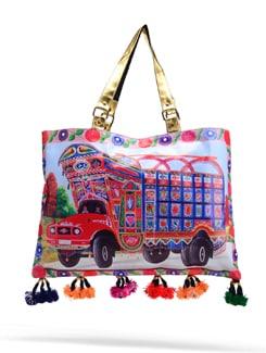 Truck Print Tote Bag - The House Of Tara