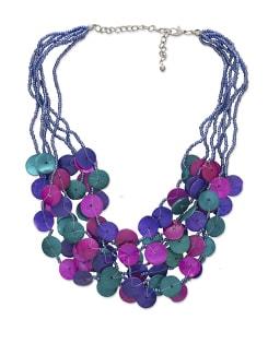 Trendy Multicoloured Shell Necklace - ALESSIA