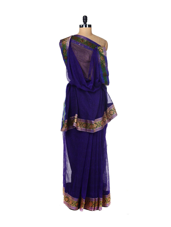Cotton Jute Printed Saree - URBAN PARI