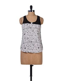 Stars Print Georgette Shirt - Tops And Tunics