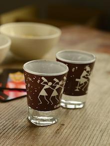 Warli Shot Glasses - Set Of 2 - Mad(e) In India
