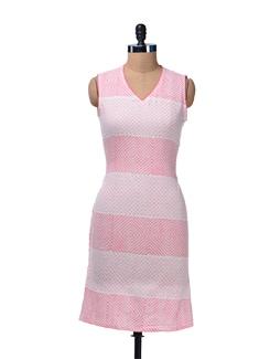Pink & White Printed Kurta - Cotton Curio