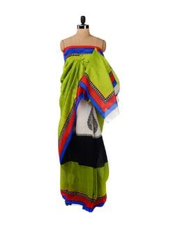 Elegant Olive Green Saree - ROOP KASHISH