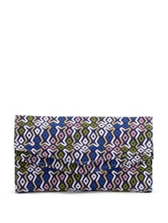 Multicoloured Printed Clutch Bag - SUNNY ACCESSORY