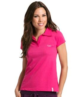 Pink Active Short Sleeve Polo - PrettySecrets