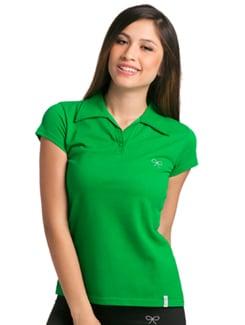 Green Active Short Sleeve Polo - PrettySecrets