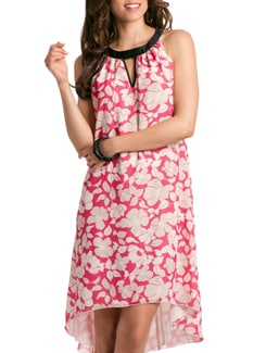 Coral Lilly A-line Dress - PrettySecrets